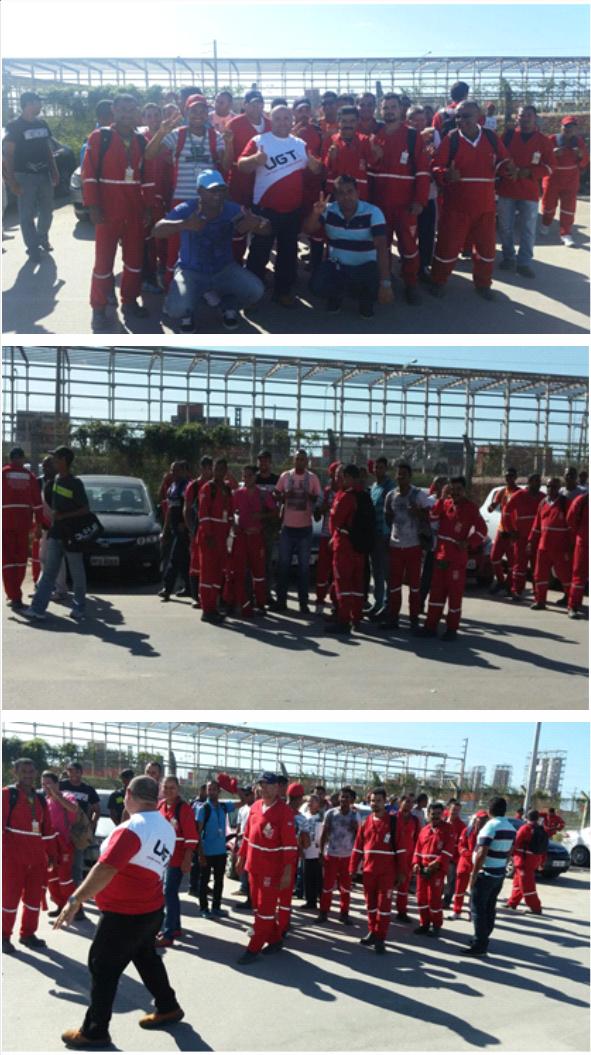 Trabalhadores Refinaria Abreu e lima